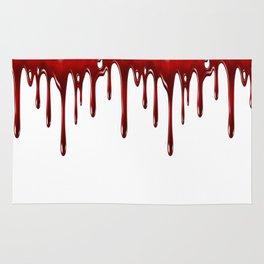 Blood Dripping White Rug