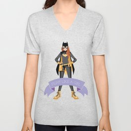 Fight Like a Girl: Batgirl Unisex V-Neck