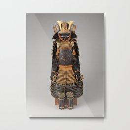 Historical Samurai Armor Photograph (17th-18th Century) Metal Print