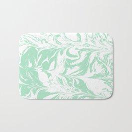 Asa - spilled ink mint marble japanese watercolor marbling marbled water wave ocean sea minimal Bath Mat