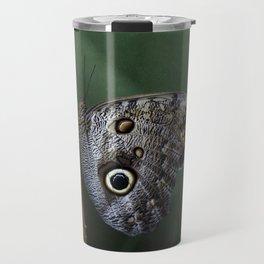 Giant Owl Butterfly On Screw Pine Travel Mug
