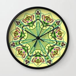 Mandala in florals Wall Clock