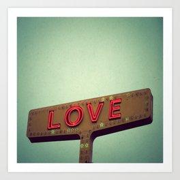 Love Signs Art Print