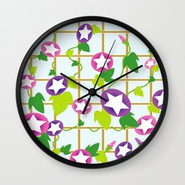 Vintage Japanese cool star pattern Wall Clock