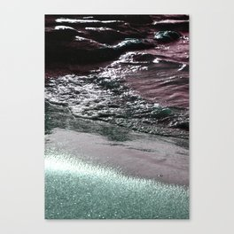 Dark Saturated Sea Coast Canvas Print