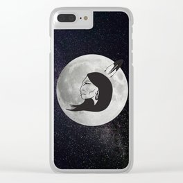 Grandmother Moon Clear iPhone Case