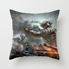US Marines Devil-Dogs are marching on Throw Pillow