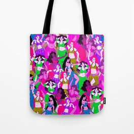 Belly Dancers - Psychedelic Neon Tote Bag