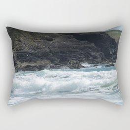 White Surf Rectangular Pillow