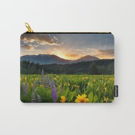 Wildflower Sunrise Carry-All Pouch