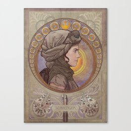 May the force be with her- SCAVENGER Canvas Print