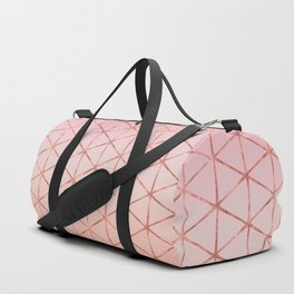 Triangle Pattern - Rose Gold Duffle Bag