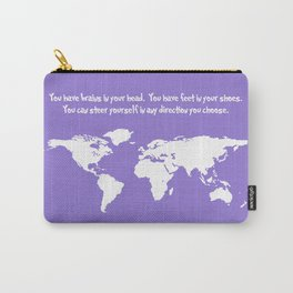 World Map with Dr. Seuss Quote Carry-All Pouch