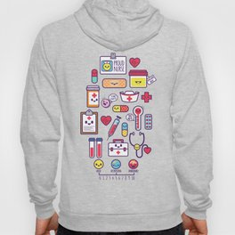 Proud To Be a Nurse Pattern / Purple Hoody