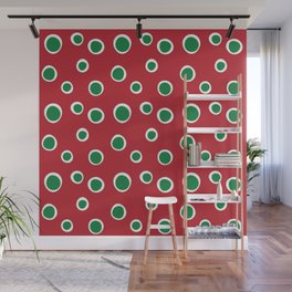 Christmas Dots Wall Mural