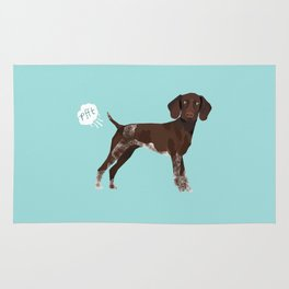 german shorthair pointer funny farting dog breed gifts Rug