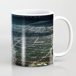 Night Flight out of Los Angeles Blue Coffee Mug
