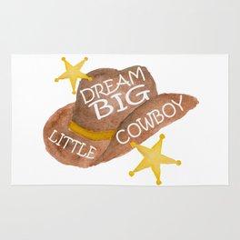 Watercolor Dream Big Little Cowboy Rug