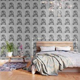 Baby Owl - Black & White Wallpaper