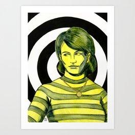Yellow Girl I Art Print