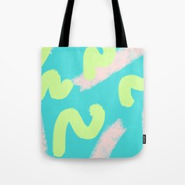 Green & Pink Wiggles Tote Bag