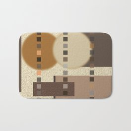 Neutral Abstract Bath Mat