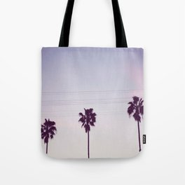 Los Angeles Sunset + Palm Tree Silhouettes Tote Bag