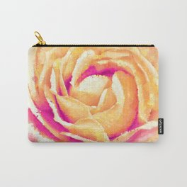Abstract Colorful Rose Flower Artwork Carry-All Pouch