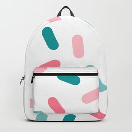 Head Rush - memphis throwback hipster style dot pill 1980s neon pastel palm springs socal surfer Backpack