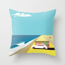 Mar de Cortez (square) Throw Pillow