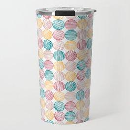 Scrawled Polka Dots Travel Mug