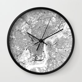 Philadelphia White Map Wall Clock