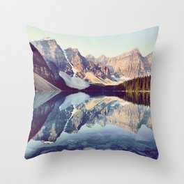 Moraine Lake Reflection Throw Pillow