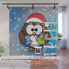 Christmasowl Wall Mural