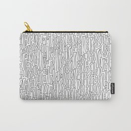 Black and White Skeleton Bone Pattern Carry-All Pouch