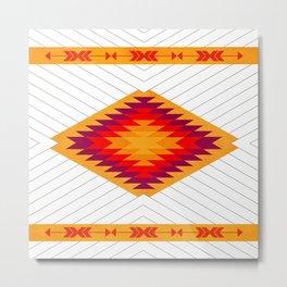 053 Traditional navajo pattern interpretation Metal Print