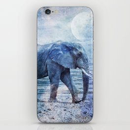 The Elephants Journey Blue Moon iPhone Skin