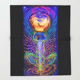 Musical Water ~ Prints ~ Painted Live w/ Mike Love & Full Circle at Mystic Rising Throw Blanket
