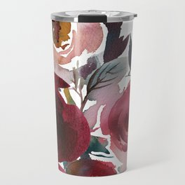 Rojo Floral Travel Mug