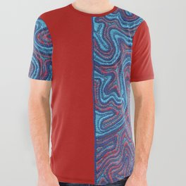 Stitches - Coral All Over Graphic Tee