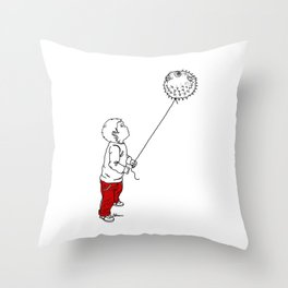 Danger Kids: Blowfish Balloon Throw Pillow