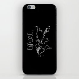 Explore World Map iPhone Skin