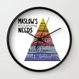 Maslow's Hierarchy of Needs Wall Clock