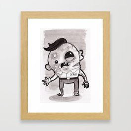 Zombie - Inktober/Drawlloween 2015 Framed Art Print