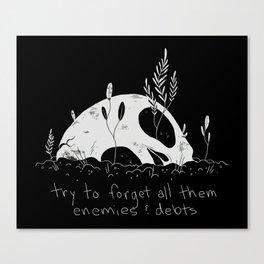 Roll the Bones Canvas Print
