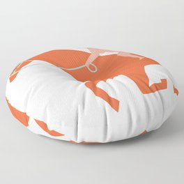 Naked derby Floor Pillow