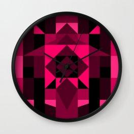 Hot Pink Zentangle Wall Clock