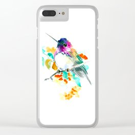 Cute Little Hummingbird Clear iPhone Case