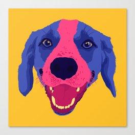 beagle - yellow Canvas Print