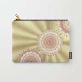 Delicate Mandalas on Gold Carry-All Pouch